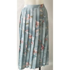 Blue & Pink Pleated Skirt Size 16